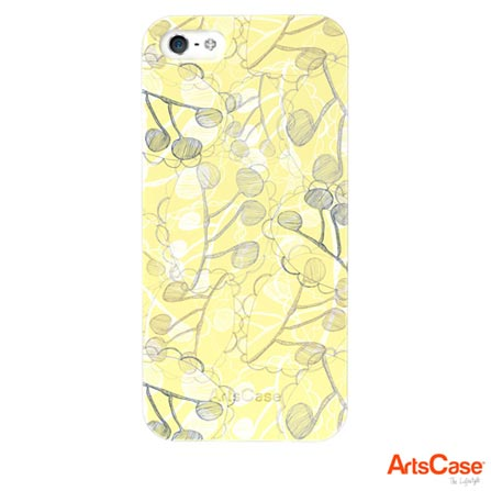 Capa Artscase para iPhone 5 e 5s Slimfit Rachel Taylor Ghost Leaves Colorida, Colorido, 12 meses