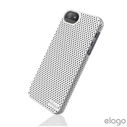 Capa Protetora Elago Breath para iPhone 5 Branca com Película Protetora - ELS5BRUVWH, Branco, 12 meses