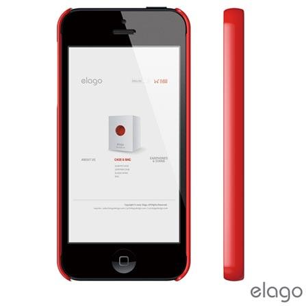 Capa para iPhone 5 Vermelha Elago com película - ELS5SM2U, Vermelho, 12 meses