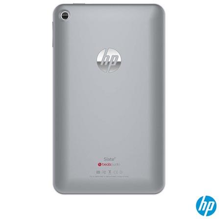 Tablet HP Slate 72800 Prata com Wi-Fi, Android, Bluetooth e Memória de 08 GB, 08 GB, Wi-Fi, 7'', Dual Core, 3.0 MP, Não, Prata