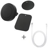 Suporte Veicular Geonav Universal Preto para Smartphones + Cabo Lightning USB Apple com 1 metro para iPod, iPhone e iPad