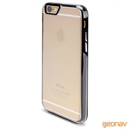 Capa para iPhone 6 Impact 2 em 1 em Policarbonato Preto - Geonav - IPH621B, Capas e Protetores, 12 meses