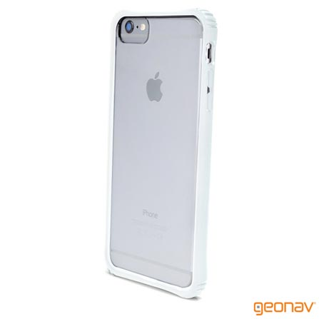 Capa para iPhone 6 Bumper Policarbonato Branca Geonav - IPH6BUW, Branco, Capas e Protetores, 12 meses