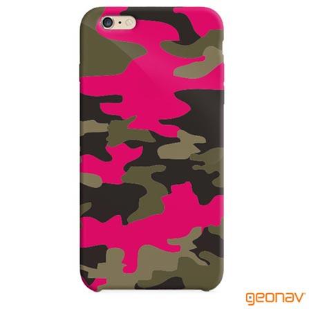 Capa para iPhone 6 Plus Camouflage Pink Geonav - IPH6PCAP, Pink, Capas e Protetores, 12 meses