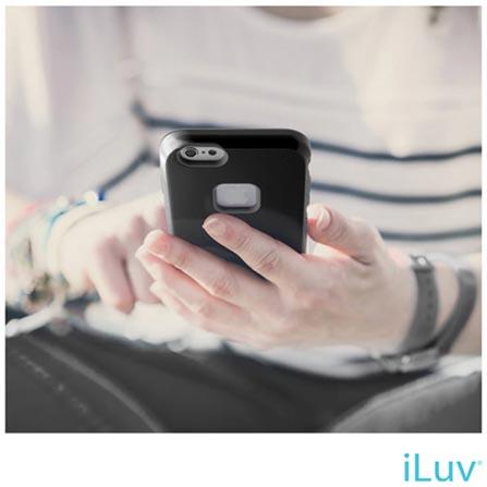 "Capa Híbrida Regatta iLuv Preta para iPhone 6 de 4.7"" - AI6REGABK, Capas e Protetores, 06 meses"
