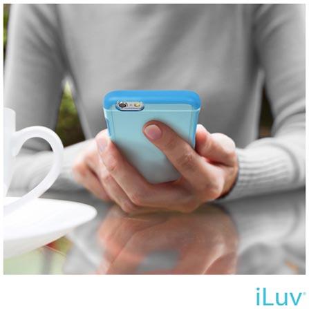 """Capa para iPhone 6 de 4.7"""" Híbrida Vyneer Azul - iLuv - AI6VYNEBL, Azul, Capas e Protetores, 06 meses"""