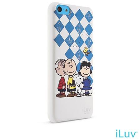 Capa iLuv para iPhone 5C Branco e Azul Snoopy Series, Branco e Azul, 06 meses