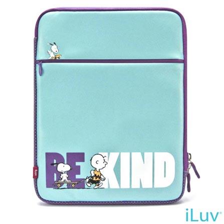 Capa Sleeve em Neoprene para iPad 2, 3 ou 4 Azul - iLuv - ISS2103B, Azul