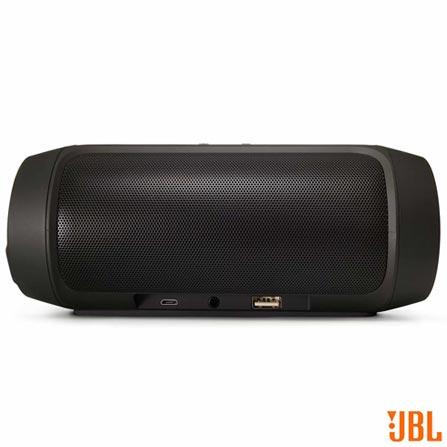 Caixa de Som Bluetooth JBL com Conexao P2 Preta - Charge 2+, Bivolt, Bivolt, Preto, Caixas Portáteis, Sim, Não especificado, Sim, Não, iOS e Android, Sim, 12 meses