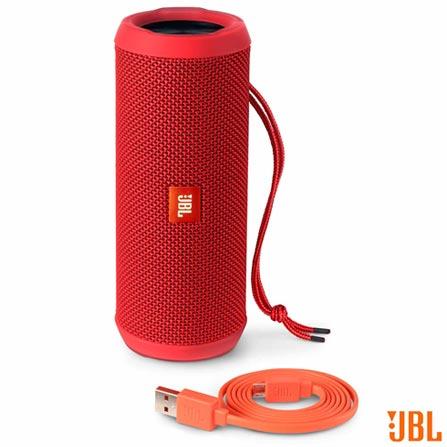 Caixa de Som JBL Vermelha para Aparelhos com Conexão Bluetooth e P2 - FLIP3, Bivolt, Bivolt, Vermelho, Caixas Portáteis, Sim, Não especificado, Sim, Não, Não se aplica, 12 meses