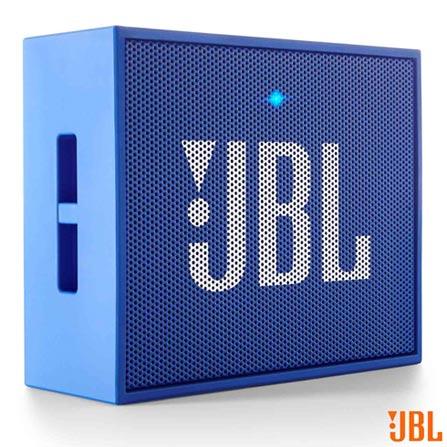 Caixa Bluetooth JBL GO Blue com Potência de 3 W - JBL, Bivolt, Bivolt, Azul, Caixas Portáteis, Sim, 3 W, Sim, Não, iOS e Android, Sim, 12 meses