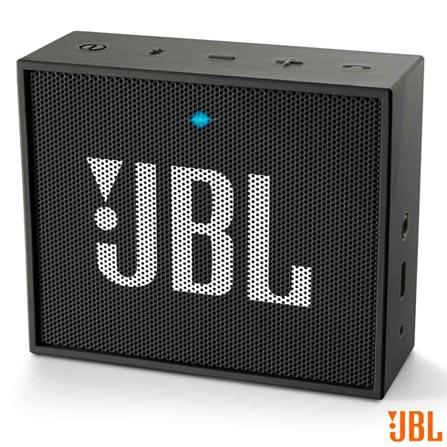 Caixa Bluetooth JBL GO Black com Potência de 3 W - JBL, Preto, Caixas Portáteis, Sim, 3 W, Sim, Não, iOS e Android, 12 meses