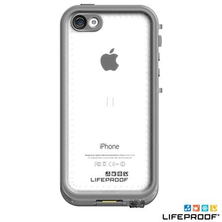 Capa para iPhone 5c Nudd Cinza e Branco - Lifeproof- 2002-02, Branco, Capas e Protetores, 12 meses
