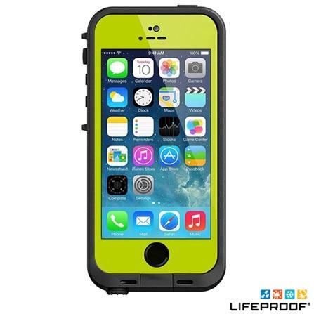 Capa para iPhone 5 e 5s Verde e Preto - Lifeproof Fré - 2101-07, Verde e Preto, 12 meses