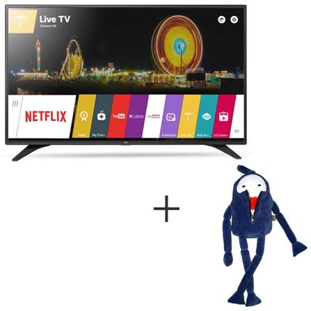 Smart TV LG LED Full HD 43 com webOS 3.0, WiDi e Wi-Fi - 43LH6000 + Boneco Kenny em Plush Azul - Bodobo, 0, TVs acima de 40''