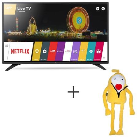 Smart TV LG LED Full HD 43 com webOS 3.0, WiDi e Wi-Fi - 43LH6000 + Boneco Kenny em Plush Amarelo - Bodobo, 0, TVs acima de 40''