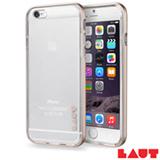 Capa Protetora para iPhone 6 e 6s Laut Exo Frame Dourado com 02 Películas - LT-IP6/6SEFGDI