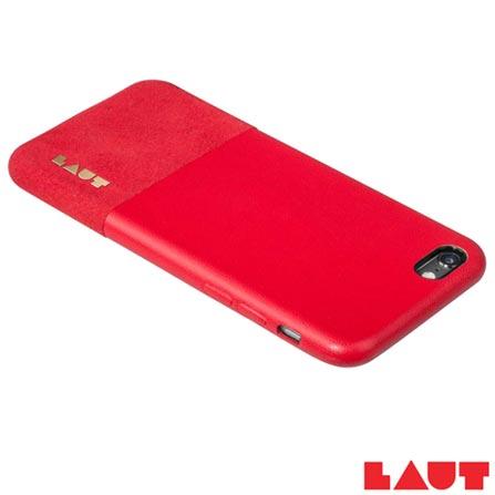 Capa Protetora para iPhone 6 e 6s Laut Un1form Vermelho com 02 Películas - LT-IP6/6SUNRI, Vermelho, Capas e Protetores, 03 meses