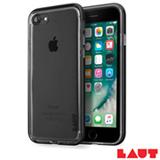 Capa para iPhone 7 em TPU com Aro de Aluminio Preto com 02 Peliculas Plasticas - Laut - LT-IP7EX
