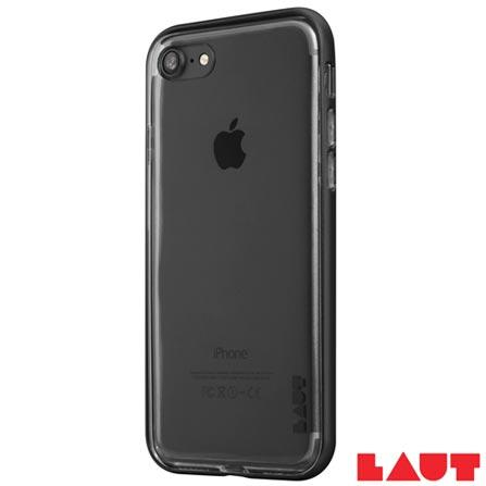 Capa para iPhone 7 em TPU com Aro de Aluminio Preto com 02 Peliculas Plasticas - Laut - LT-IP7EX, Preto, Capas e Protetores, 03 meses