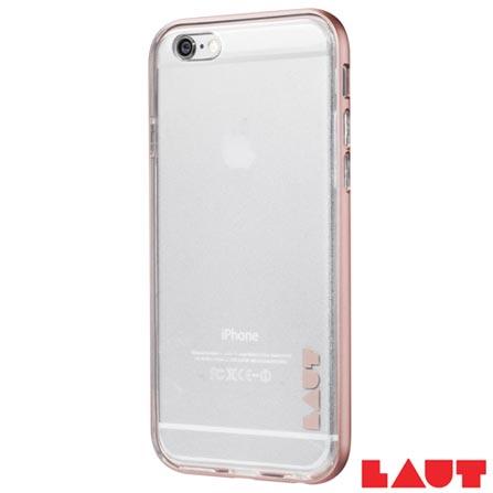 Capa para iPhone 7 em TPU com Aro de Aluminio Rosa com 02 Peliculas Plasticas - Laut - LT-IP7EX, Rosa, Capas e Protetores, 03 meses