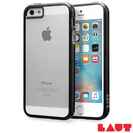 Capa para iPhone SE Preta com Película Plástica - Laut - LT-IPSEBKI, Preto, Capas e Protetores, 03 meses
