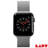 Pulseira para Apple Watch 42/44 mm Steel Loop em Malha de Aço Inoxidável Prata - Laut - LT-AWLSLSLI