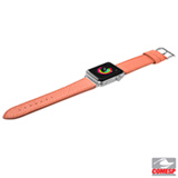 Pulseira para Apple Watch 38/40mm Milano em Couro Italiano Coral - Laut- LT-AWSMLPI
