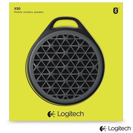 Caixa de Som Bluetooth X50 Cinza - Logitech, Cinza, Caixas Portáteis, Sim, Não especificado, Sim, Não, iOS e Android, 12 meses