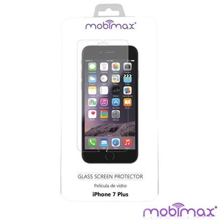 Película para iPhone 7, 6 e 6s Plus em Vidro Transparente -  Mobimax - MBMMPVIPH-7PL, Não se aplica, 06 meses