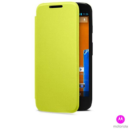 Capa para Moto G Flip Shells Lemon Lime - 11226N, Amarelo, Capas e Protetores, Plástico, 03 meses