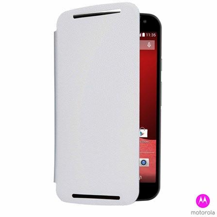 Capa Motorola Flip Shell Branco para Moto G 2 - 89743N, Branco, Capas e Protetores, Acrílico