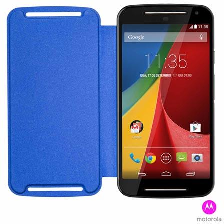 Capa Flip Shell para Moto G 2 Motorola Azul - 89744N, Azul, Capas e Protetores, Acrílico