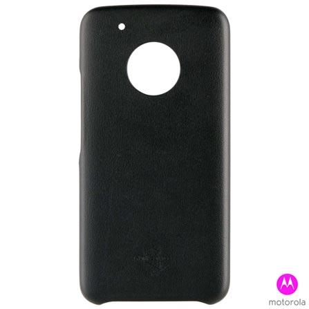 Capa para Moto G5 Plus Preta - MO-MMBKC0008I + Pelicula Protetora para Moto G5 Plus em Vidro - MO-MMTPG0014I - Motorola, 0