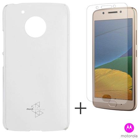 Capa para Moto G5 em Policarbonato Transparente - Motorola - MO-MMCRY0011 + Pelicula em Vidro - Motorola - MO-MMTPG0016I, 1