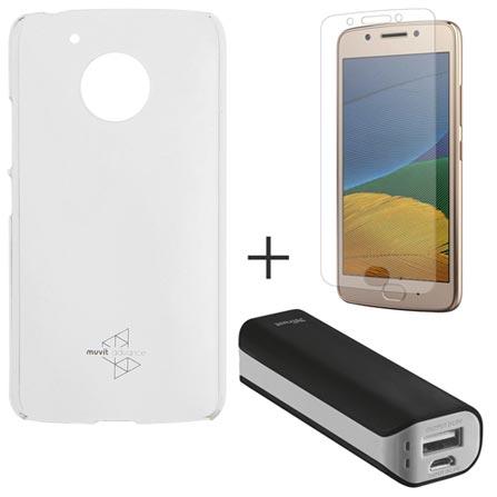 Capa para Moto G5 Transparente Motorola - MO-MMCRY0011 + Pelicula em Vidro Motorola + Carregador 2200 MAH - Trust, 1