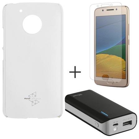 Capa para Moto G5 Transparente Motorola - MO-MMCRY0011 + Pelicula em Vidro Motorola + Carregador 4400 MAH - Trust, 1