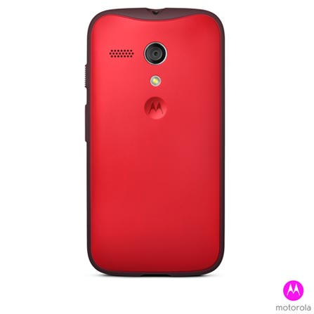 Smartphone Moto G Colors Dual Preto com 16GB + Capa Grip Shells Vivid Red + Capa Flip Shells Royal Blue, 0, Android acima de 4''