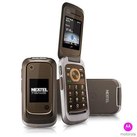 Nextel Motorola com Câmera de 2.0, Marrom e Prata - i786