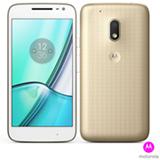 """Moto G4 Play DTV Edição Especial Dourado Motorola com Tela de 5"""", 4G, 16 GB e Câmera de 8 MP - XT1603"""