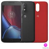 Moto G4 Plus Preto Motorola com Tela de 5,5, 4G, 32 GB e Camera de 16 MP - XT1640