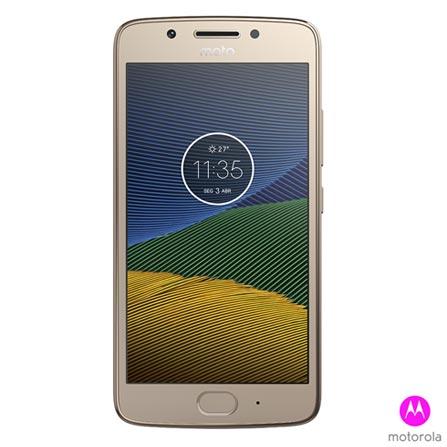 """Moto G5 Ouro Motorola com Tela de 5"""", 4G, 32 GB e Câmera de 13 MP - XT1672, Dourado, 0000005.00, True, 1, N, True, True, True, True, True, True, I, Moto G5, Android, Wi-Fi + 4G, 5'', Acima de 4'', Sim, Snapdragon 430, 32 GB, 13.0 MP, 2, Não, Sim, Sim, Sim, Sim, 12 meses, Nano Chip"""