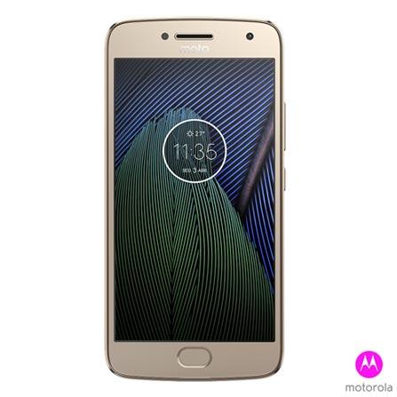 """Moto G5 Plus Ouro Motorola com Tela de 5,2"""", 4G, 32 GB e Câmera de 12 MP - XT1683, Dourado, 0000005.20, True, 1, N, True, True, True, True, True, True, I, Moto G5 Plus, Android, Wi-Fi + 4G, 5.2'', Acima de 4'', Sim, Snapdragon 625, 32 GB, 12 MP, 2, Sim, Sim, Sim, Sim, Sim, 12 meses, Nano Chip"""