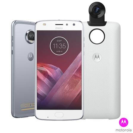 , Bivolt, Bivolt, Azul, 0000005.50, True, 1, N, True, True, True, True, True, True, I, Moto Z² Play 360 Camera Edition, Android, Wi-Fi + 4G, 5.5'', Acima de 4'', Sim, Snapdragon 626, 64 GB, 12 MP, 2, Não, Sim, Sim, Sim, Sim, 12 meses, Nano Chip