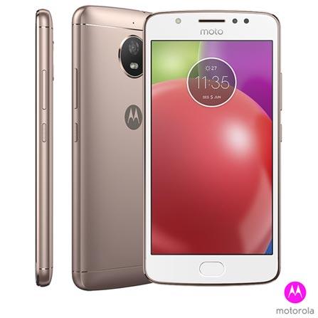 """Moto E4 Branco e Ouro Rosê Motorola com Tela de 5,0"""", 4G, 16 GB e Câmera de 8 MP - XT1763, Bivolt, Bivolt, Branco e Rosa, 0000005.00, True, 1, N, True, True, True, True, True, True, I, Moto E4, Nano Chip, Android, Wi-Fi + 4G, 5'', Acima de 4'', Mediatek MT6737, 16 GB, 8.0 MP, 2, Não, Sim, Sim, Sim, Sim, 12 meses"""