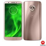 """Moto G6 Ouro Rosê Motorola com Tela de 5,7"""", 4G, 64GB e Câmera de 12MP + 5MP - XT1925-3"""