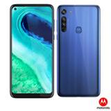Moto G8 Azul Capri Motorola, com Tela 6,4', 4G, 64GB e Câmera de 16MP + 8MP + 2MP - XT2045-1