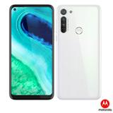 Moto G8 Branco Prisma Motorola, com Tela 6,4', 4G, 64GB e Câmera de 16MP + 8MP + 2MP - XT2045-1