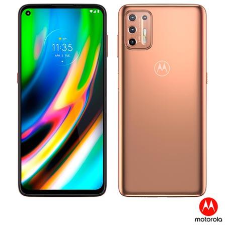 Celular Smartphone Motorola Moto G9 Plus Xt2087 128gb Dourado - Dual Chip