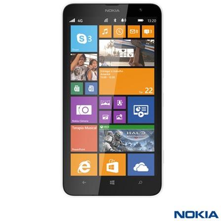 """Smartphone Nokia Lumia 1320 com Tela de 6"""" LCD IPS, Memória Interna de 08 GB, 4G e Wi-Fi Branco, Windows Phone, 6'', Qualcomm Snapdragon S4 Pro, 5.0 MP, Não, Sim, Sim, 08 GB, Branco, 01 ano"""